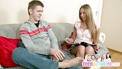 Deluxe skinny teen trouble fuck with close holes 74