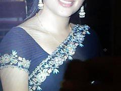 Navneet saree blouse navel face cummed