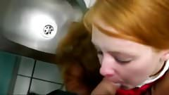Blowjob in the toilet