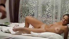 Big titted milf milks cock in shower