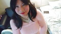 Pink Sweater & Schoolgirl Skirt 1