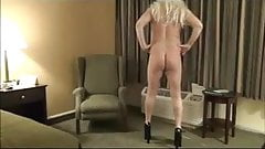 Sexy CD Bare Ass and Heels