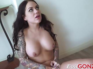 Karmen Karma gets massive cock stuffed up in her ass