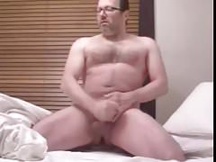 chubby dad stroking