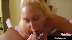 Fuck Movie Night! Nina Kayy Bangs Black Cock All Over Apt!