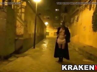 Strange scene of BDSM on the street with hot MILF
