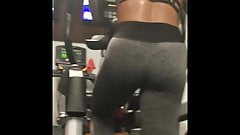 PAWG Booty Black Chick at the Gym Working Out!