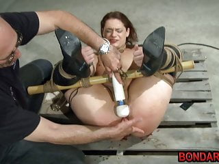 Tied girl gets punished by her master with butplug and more!
