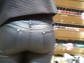 candid great ass, in shop tight ass jean woww part3