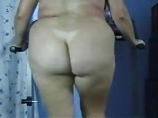 BBW Butt Naked Fat Ass Treadmill Workout  - negrofloripa