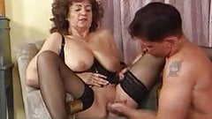 Grannies in black nylons