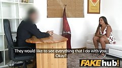 Fake Agent Natural chubby tanned cute amateur in porn castin's Thumb