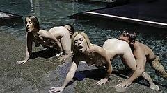 DaughterSwap - Sexy Stepdaughters Suck Dad Dick Underwater