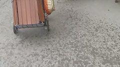 Tintera culona transparentando tanga