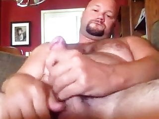 servicing his own cock