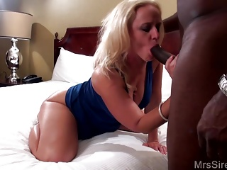 BBC makes me SQUIRT and CREAMPIES my MILF Pussy