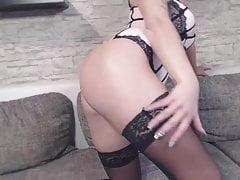 Versautes Deutsches Teen Girl Strippt vor der Cam