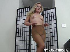 Do you like the sexy black pantyhose I just got JOI