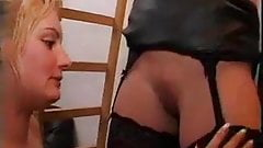 young girl fisting her mature neighbor F70