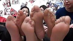 asian nylon feet close up pt2