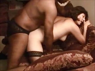 Shy white wife takes her first BBC and creampie, hubby films