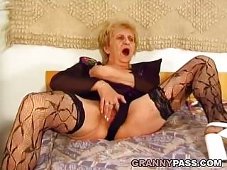 Preview 2 of Hairy Granny Gets Pounded Hard By A Young Dick