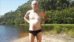 old man skinny dips