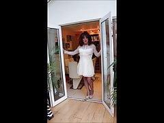 Pleated white skirt 3