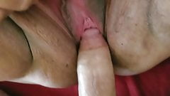 Granny's pussy gets a young cock's Thumb