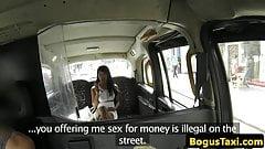 Tit fucking ebony babe pussy fucks cabbie