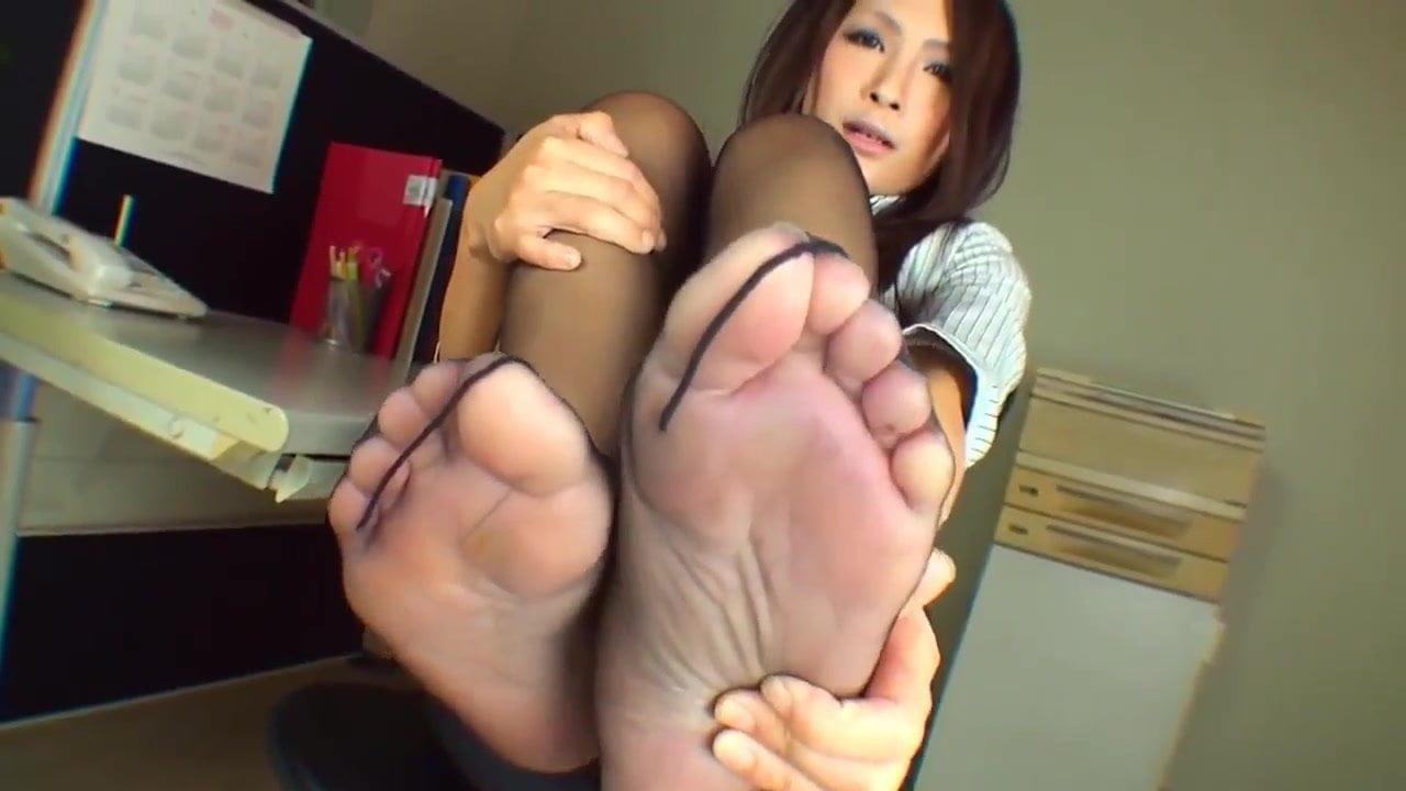 Nylon Feet Worship Handjob
