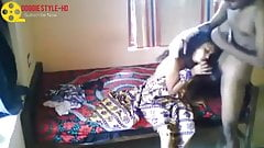 Indian Desi Couple Mad In The Crazy Love At Home Alone
