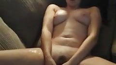 Husband Films Wife with a Big Dildo