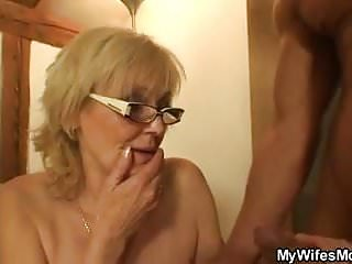 He screws porn-loving mother in law