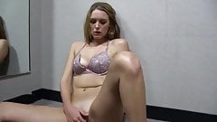 Young beauty filmed by girlfriend in changing room