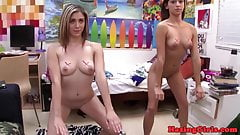 Humiliated college hazing with teen amateur