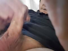 Jerking with some pre-cum