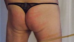 Caned and Masturbated