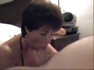 Cougar sucks off young guy while hubby shootsvideo