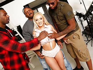 Amber Deen Interracial Gangbang