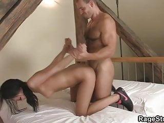 Guy aggressively fucks his cheating slut