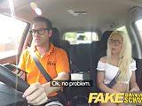 Fake Driving School Stunning blonde gets deep creampie