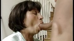 Chubby granny gets her pussy licked