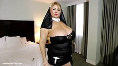 Slutty BBW Legend Dresses Up as Nun N Fucks Herself with Toy