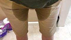 Peed Pants in Front of Toilet