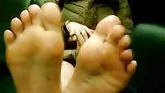 My 20 year old friend models her soles..