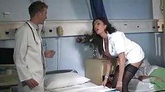 Busty British Nurse Takes On Doctors Big Cock