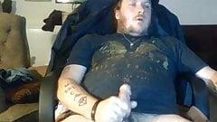Tatooed married dude cumming hard