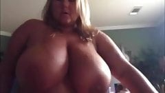 Blonde bbw with massive golden tits