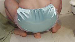 blue sissy panty dildo fuck